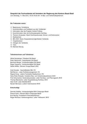 Aktennotiz - SIA Basel