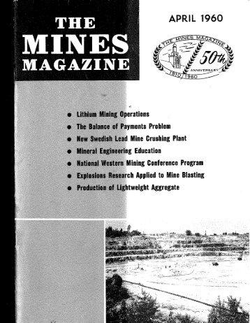 THE M I N E S MAGAZINE - Colorado School of Mines