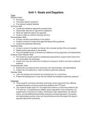 Unit 1: Goals and Dayplans - Computer Writing and Research Lab