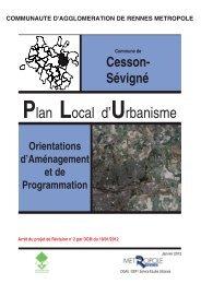 Orientations d'Aménagement et de Programmation - Cesson-Sévigné