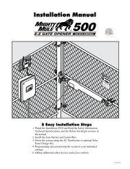 Installation Manual 500 - Gates That Open, LLC