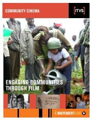 ENGAGING COMMUNITIES THROUGH FILM - PBS