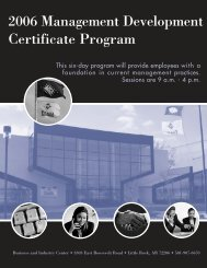 2006 Management Development Certificate Program - Pulaski ...