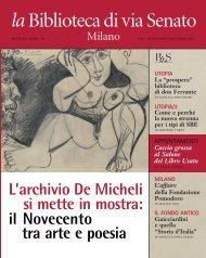Scarica l'edizione di Novembre / Dicembre - Fondazione Biblioteca ...