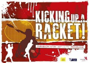 Kicking up a Racket - Parabadminton - sports coach UK