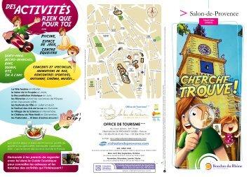 le livret jeu pour les enfants - Office de tourisme Salon de Provence