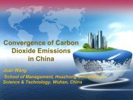 Convergence of Carbon Dioxide Emissions in China - UNU-WIDER