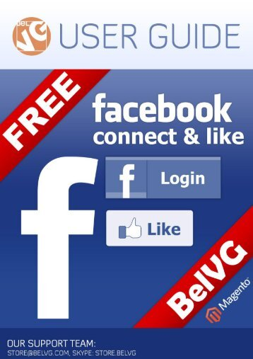 Facebook Connect and Like Free - BelVG Magento Extensions Store