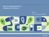 Resource Management in VMware ESX Server 3
