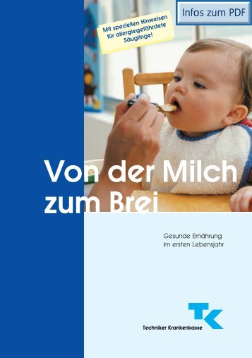 TK-Gesundheitsbroschüre: Von der Milch zum Brei ... - Babypartner.de