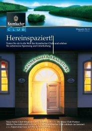 Kunden-Magazin 1 - Reymann Kommunikation