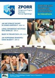 Biuletyn Europejski Fundusz Społeczny na Podkarpaciu nr 6 ...