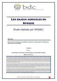 Les enjeux agricoles en Afrique - Base de connaissance AEGE