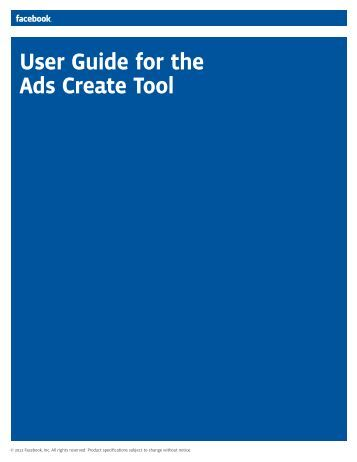 User Guide for the Ads Create Tool