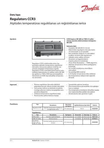 Regulators CCR3 - Danfoss apkures portāls