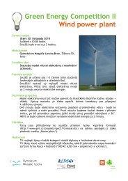 Propozice k soutěži Wind Power Plant - Gymnázium Matyáše Lercha