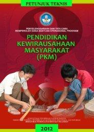 Petunjuk Teknis Pendidikan Kewirausahaan Masyarakat Tahun 2012