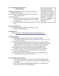 Foundational Lesson Plan #2 – Digital Compass - Digital Citizenship
