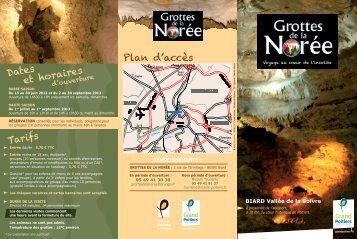 Dépliant des Grottes de la Norée