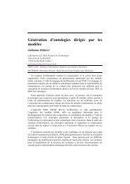 Génération d'ontologies dirigée par les modèles - Université de La ...