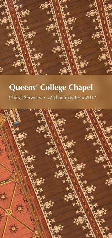 Michaelmas 2012 - College Choir
