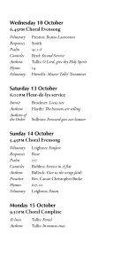 Michaelmas 2012 - College Choir - Page 5