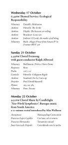 Michaelmas 2012 - College Choir - Page 6