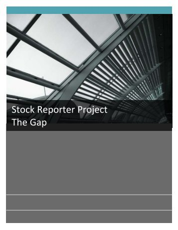 Stock Reporter Project The Gap