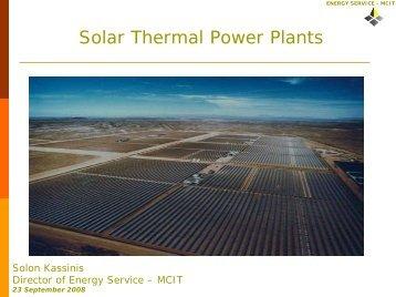 Solar Thermal Power Plant