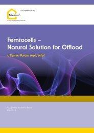 Femtocells – Natural Solution for Offload