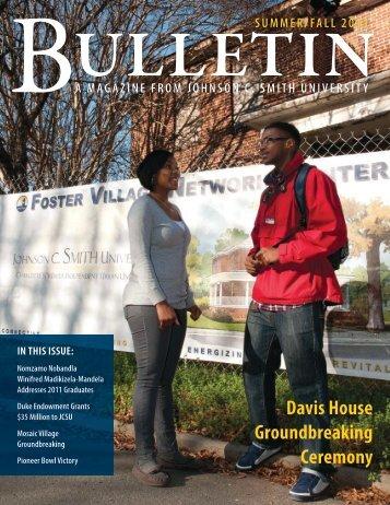 Download JCSU_Bulletin_Summer2011.pdf - Johnson C. Smith ...