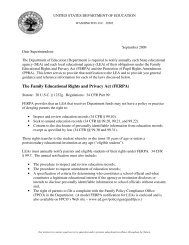 The Family Educational Rights and Privacy Act (FERPA) - Families ...