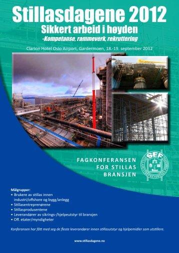 Stillasdagene 2012 - Norsk Industri