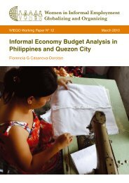 Informal Economy Budget Analysis in Philippines and ... - WIEGO