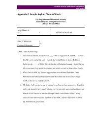 Appendix F. Sample Asylum Client Affidavit - The Advocates for ...