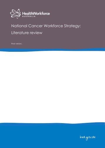 Literature review - Health Workforce Australia