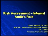 Risks Assessments - IIA Dallas Chapter