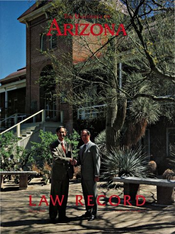 Appointments - College of Law - University of Arizona