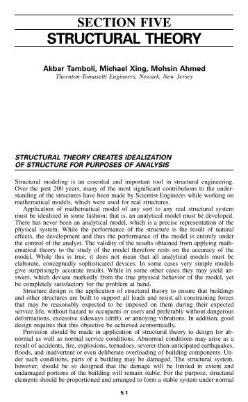 Structural Theory Section Five