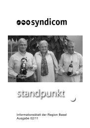Informationsblatt der Region Basel Ausgabe 02/11 - syndicom ...