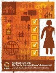 Reaching New Heights: The Case for Measuring ... - CARE Canada