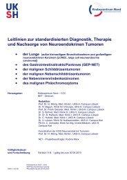 Verbindliche Leitlinien zur standardisierten Diagnostik, Therapie ...
