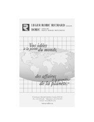 Présentation Laurent Carrière - Léger Robic Richard
