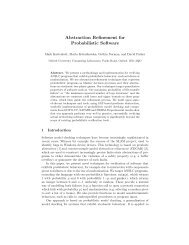 Abstraction Refinement for Probabilistic Software - Quantitative ...