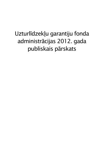 Uzturlīdzekļu garantiju fonda 2012. gada ... - Tieslietu ministrija