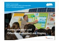 Kommunikation und Öffentlichkeitsarbeit mit Display - Energie ...