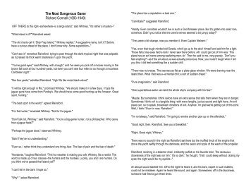 The Most Dangerous Game Worksheets. Worksheets. Whenjewswerefunny ...