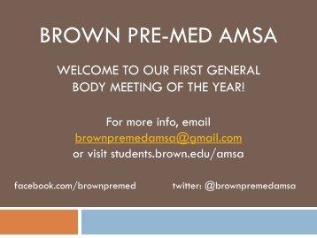 Brown Premed AMSA