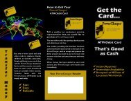 Fast Easy Reliable How to Get Your PowerCheque™ ATM-Debit Card