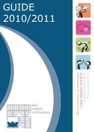 ISC guide 2010/2011 - International Students Club VUT